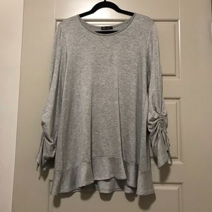 Softest oversized sweater with laced sleeves